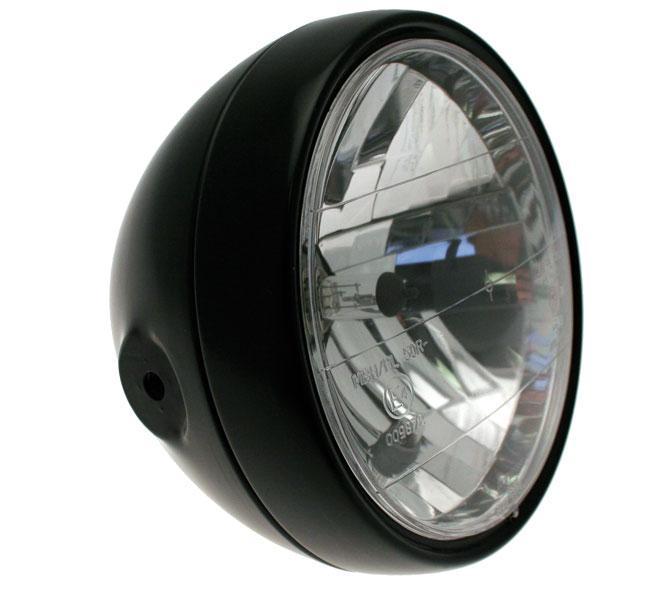 optique moto universel classic noir 872425 phare. Black Bedroom Furniture Sets. Home Design Ideas