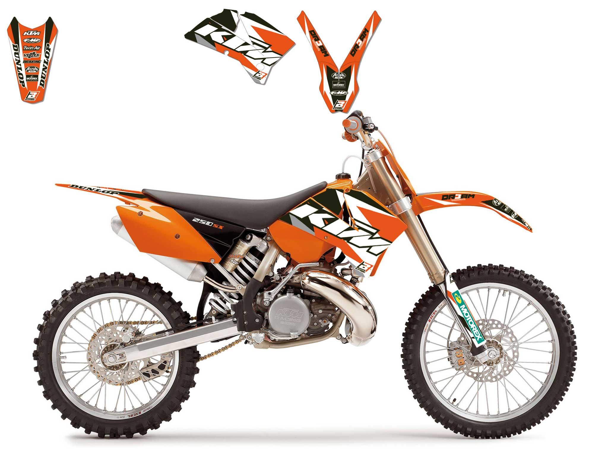 KIT DECO KTM COMPLET EXC/EXCF125 ET PLUS 2003,2004