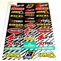 planche stickers racing autocollants divers equipements. Black Bedroom Furniture Sets. Home Design Ideas
