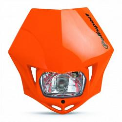 PLAQUE PHARE ENDURO MMX POLISPORT ORANGE