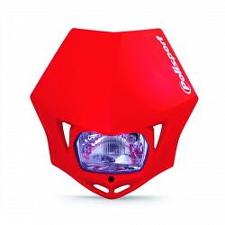 PLAQUE PHARE ENDURO MMX POLISPORT ROUGE