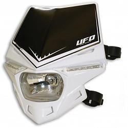 plaque phare led ufo stealth blanc plaques phares moto. Black Bedroom Furniture Sets. Home Design Ideas