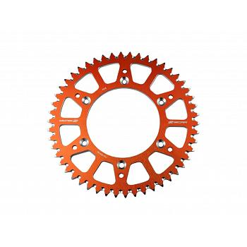 COURONNE ALU ANTI BOUE ORANGE KTM EXC 125 ET PLUS 1998-2021